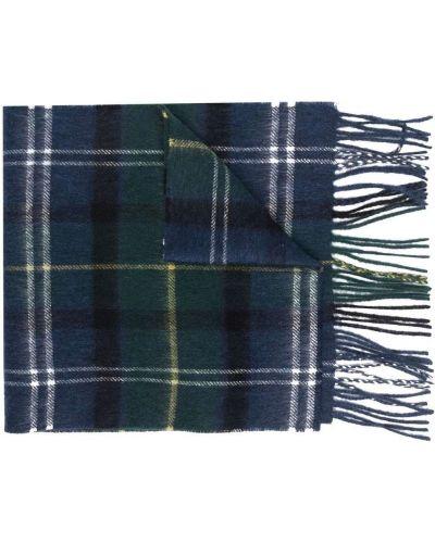 Синий шерстяной шарф Barbour