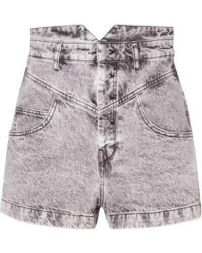 Джинсовые шорты серые короткие Isabel Marant