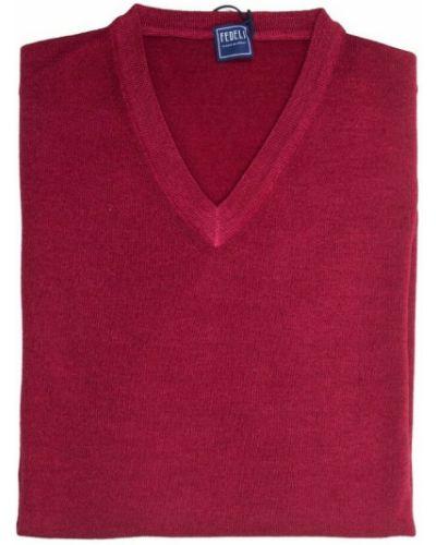 Czerwony pulower Fedeli