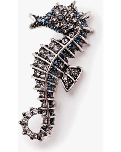 Брошь синяя серебряный Patricia Bruni