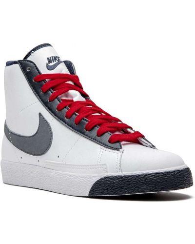 Белый кожаный пиджак на шнуровке Nike Kids