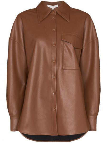 Koszula z wiskozy - brązowa Tibi