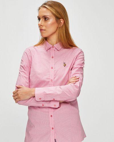 Блузка с коротким рукавом прямая в клетку U.s. Polo