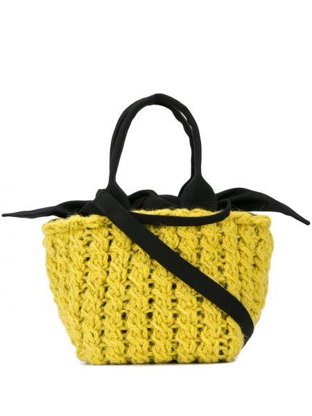 Желтая сумка-тоут круглая Muun