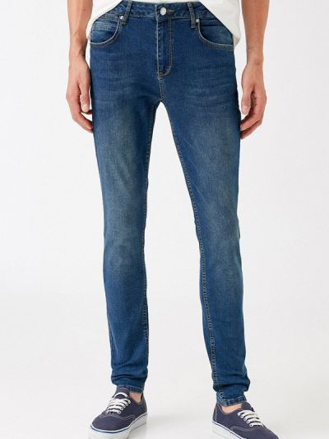 Синие зимние зауженные джинсы Koton