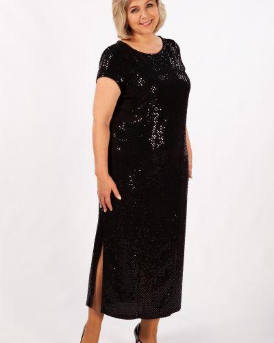 Нарядное с рукавами вечернее платье с открытой спиной милада