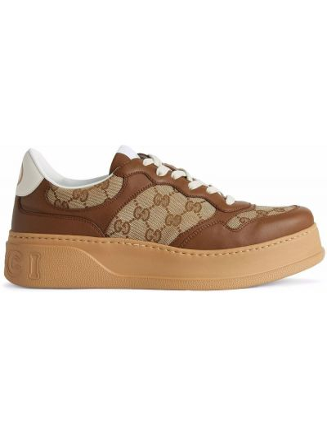 Buty sportowe skorzane - brązowe Gucci