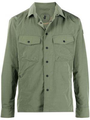 Зеленая классическая рубашка с воротником на кнопках Save The Duck