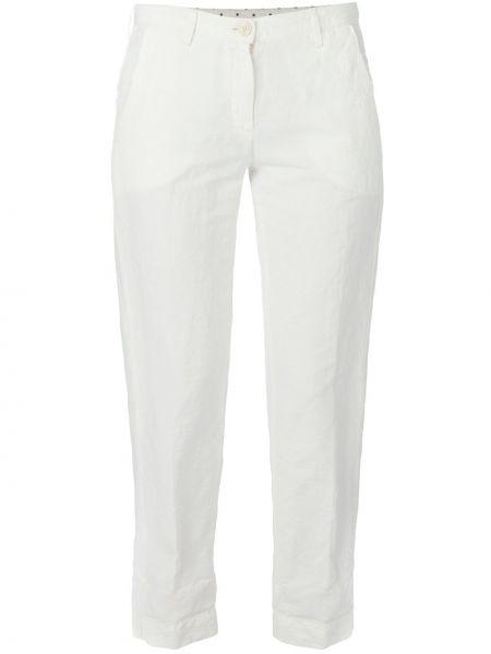 Хлопковые белые брюки Massimo Alba