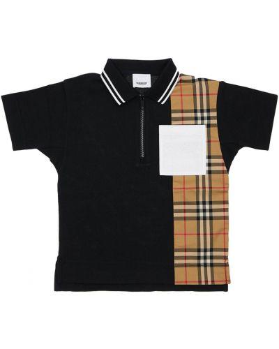 Bawełna bawełna czarny koszulka polo Burberry