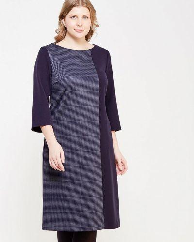 Повседневное платье осеннее синее Bonne Femme