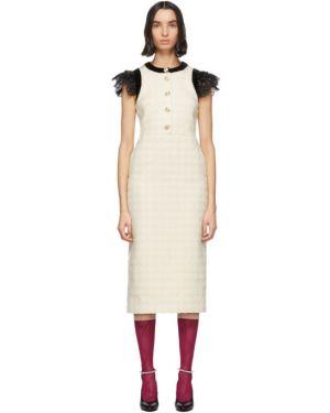 Платье на пуговицах шелковое Gucci