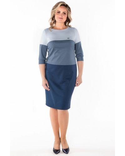 Трикотажное платье - голубое Virgi Style