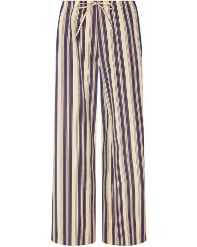 Свободные брюки в полоску бежевый Dries Van Noten
