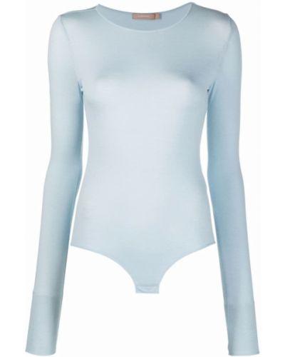 Body z długimi rękawami - niebieski 12 Storeez
