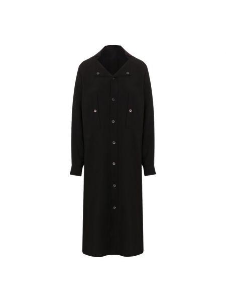 Вечернее платье мини платье-рубашка Yohji Yamamoto