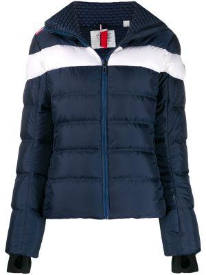 Облегающая синяя куртка с капюшоном с воротником Rossignol