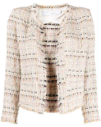 Хлопковая ватная розовая длинная куртка Iro