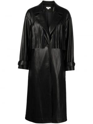 Кожаное пальто - черное Jason Wu
