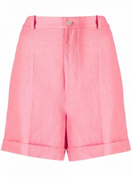 Różowe szorty materiałowe z paskiem Polo Ralph Lauren