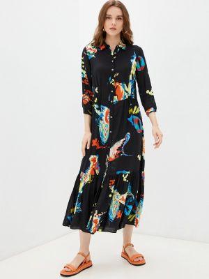 Платье рубашка - черное Desigual