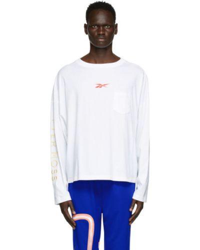 Niebieski t-shirt z długimi rękawami bawełniany Reebok By Pyer Moss