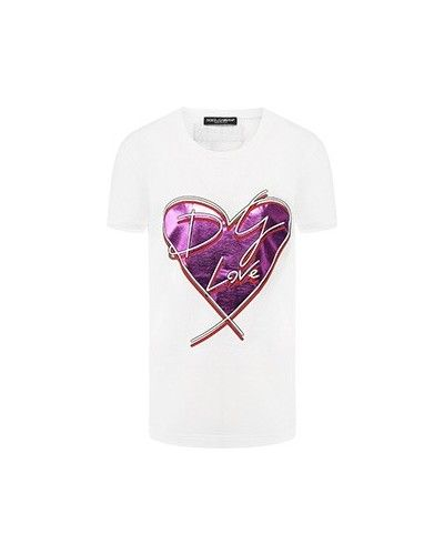 Хлопковая футболка - белая Dolce&gabbana