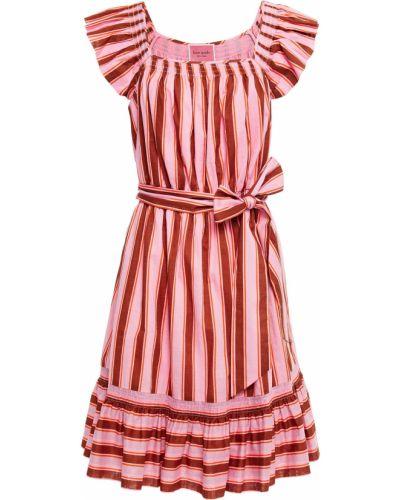 Розовое платье мини с подкладкой в полоску Kate Spade New York