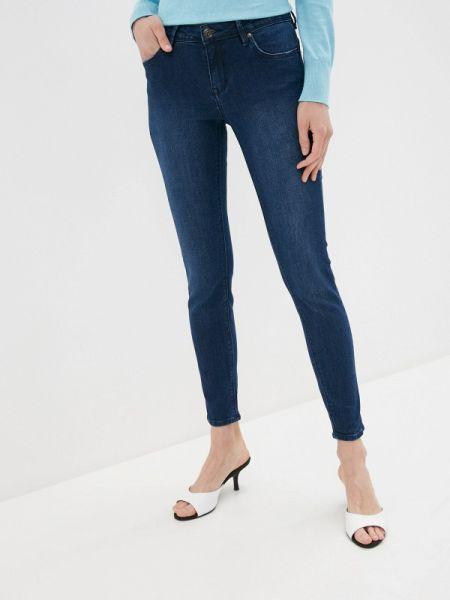 Синие джинсы-скинни с пайетками Tiffosi