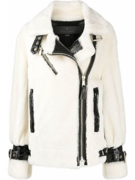 Черная стеганая кожаная куртка Nicole Benisti