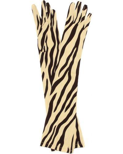 Шелковые перчатки - бежевые Gucci