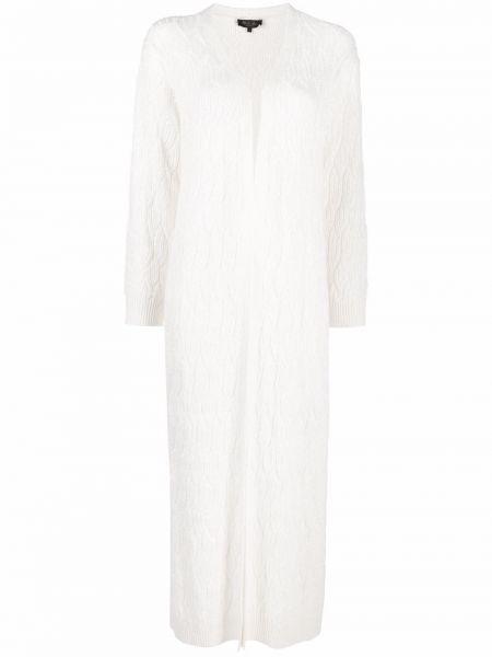 Biały lniany sweter Loro Piana