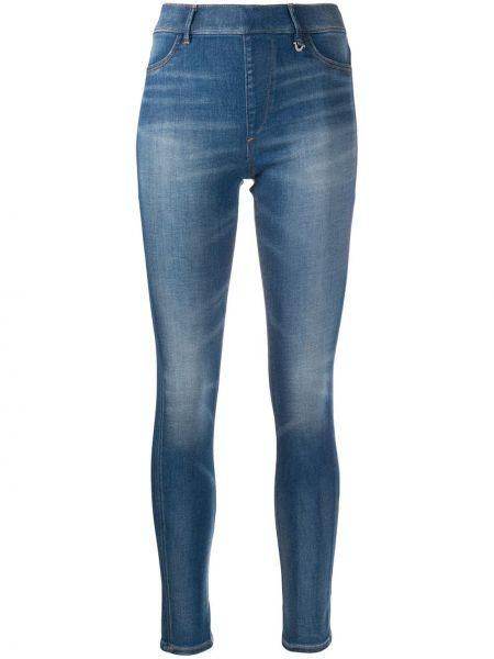 Хлопковые синие джинсы-скинни на молнии скинни True Religion