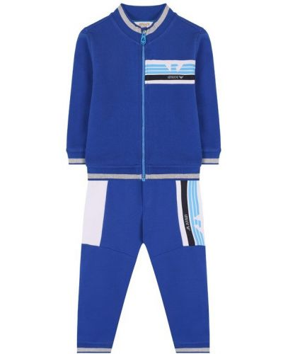 Спортивный костюм с логотипом со вставками Armani Junior