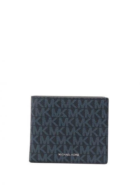 Синий кожаный кошелек со шлицей Michael Kors