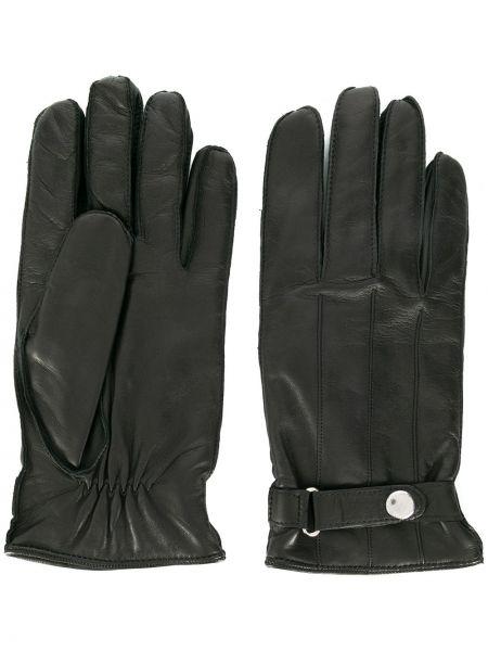 Czarne rękawiczki skorzane Ps Paul Smith