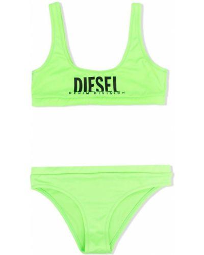 Zielony bikini z nylonu bez rękawów Diesel Kids