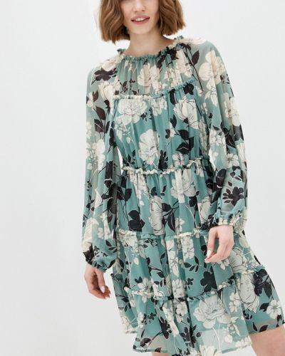 Прямое зеленое платье А-силуэта Imperial