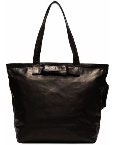 Czarna torba na ramię skórzana na co dzień Yohji Yamamoto