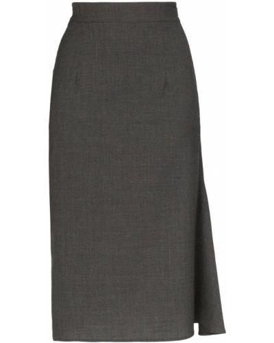 Серая юбка карандаш с рукавом 3/4 Wright Le Chapelain