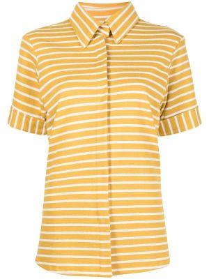 Хлопковая желтая рубашка с короткими рукавами Bambah