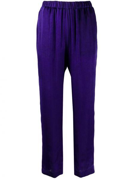 Брюки с завышенной талией фиолетовые брюки-хулиганы Forte Forte