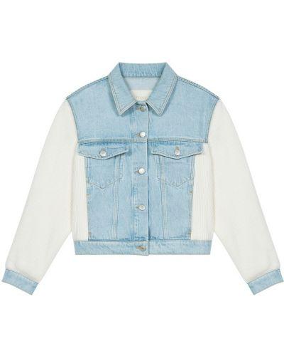 Джинсовая куртка с накладными карманами на пуговицах классическая Maje
