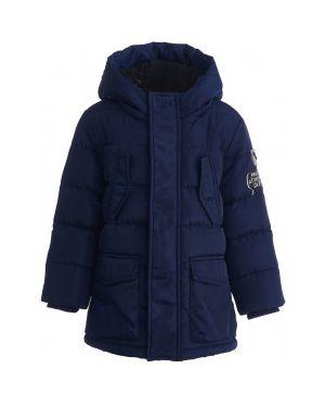 Зимняя куртка на синтепоне с капюшоном Button Blue