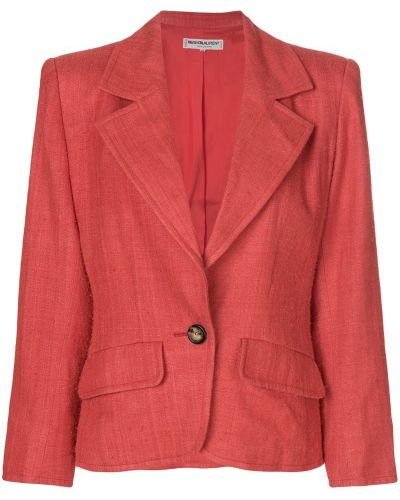 Пиджак длинный - красный Yves Saint Laurent Vintage