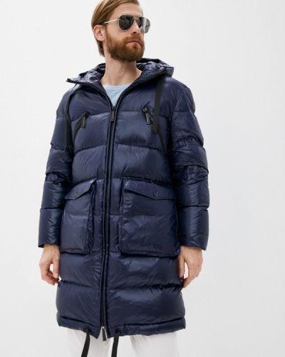 Синяя утепленная куртка Trussardi