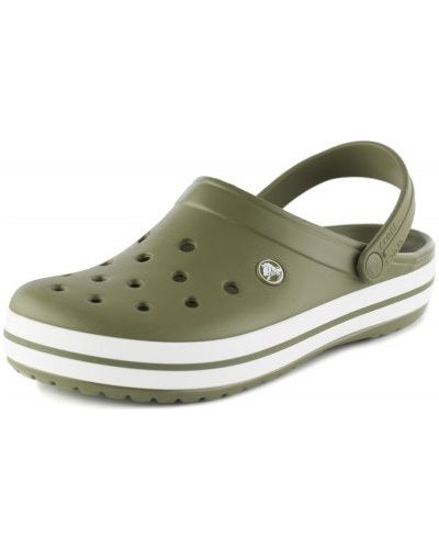 Пляжные шлепанцы зеленый для отдыха Crocs
