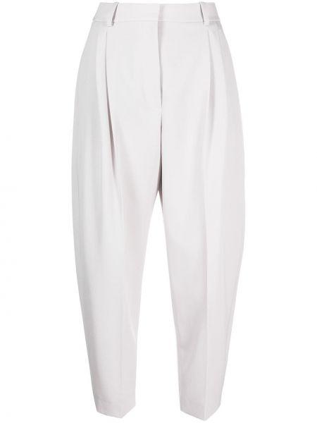 Шерстяные серые укороченные брюки с карманами Stella Mccartney