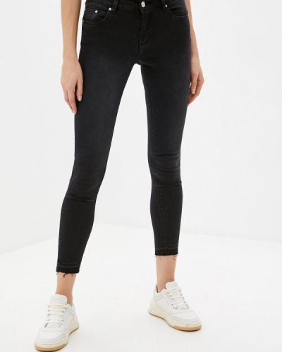 Черные джинсы-скинни узкого кроя Tiffosi