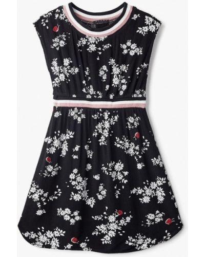 Черное платье повседневное Sisley